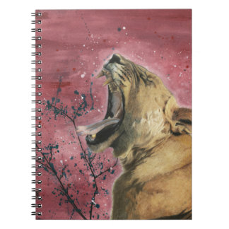 Lioness Yawn Notebook