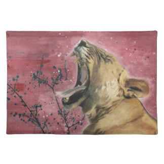 Lioness Yawn Placemat