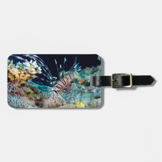 Lionfish Great Barrier Reef Coral Sea Luggage Tag
