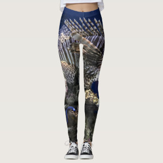 Lionfish in Aquarium Leggings