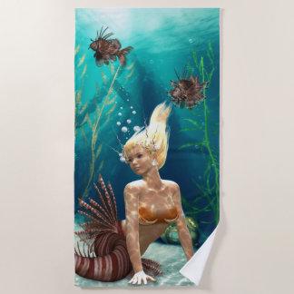 Lionfish Mermaid Beach Towel