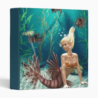 Lionfish Mermaid Binder