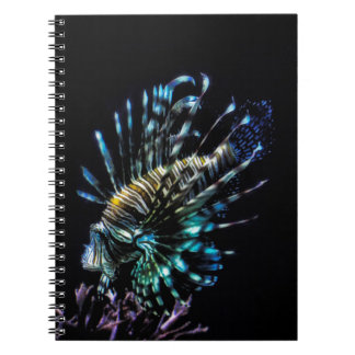 Lionfish swims notebooks