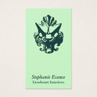 Lionheart Ornament Evergreen Business Card