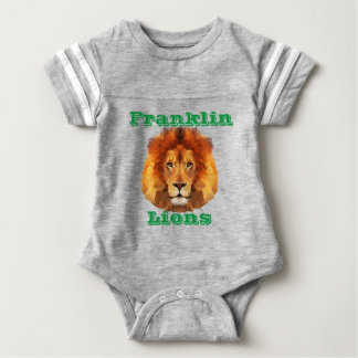 Lions Baby Football Bodysuit Brown Lion Head