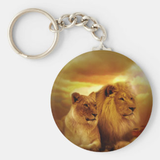 Lions Couple Keychain