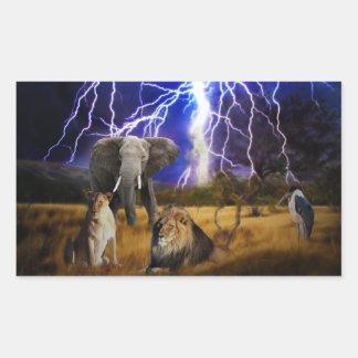 Lions Elephant South Africa Sticker