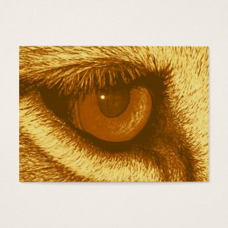 Lions Eye, Brown and Yellow Pastel Business Card