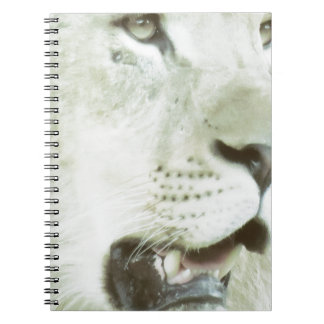 Lion's Face Close-up! Notebook