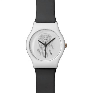 Lions face in dream catcher watches