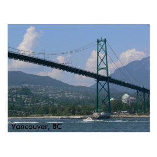 Lion's Gate Bridge, Vancouver, BC Postcard