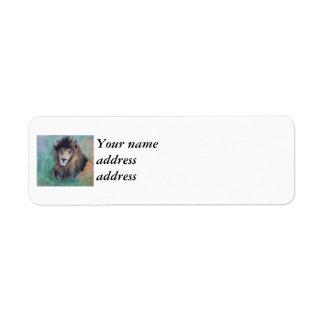 Lion's Gaze Return Address Label
