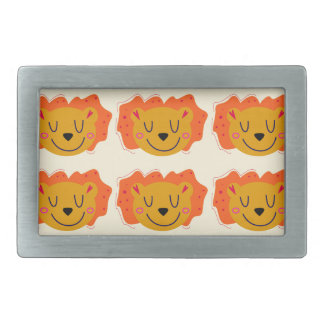 LIONS GOLD LITTLE KIDS LIONS RECTANGULAR BELT BUCKLE