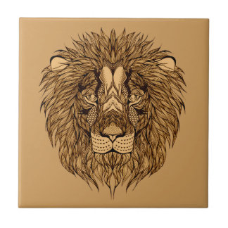 Lion's Head Ceramic Tiles