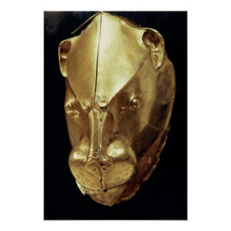 Lion's head rhyton, from Grave IV Poster