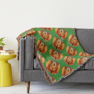 Lion's Head Throw Blanket