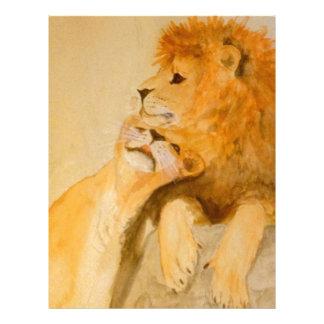 Lions in Love #1.jpg Customized Letterhead