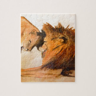 Lions in Love #2 Jigsaw Puzzle