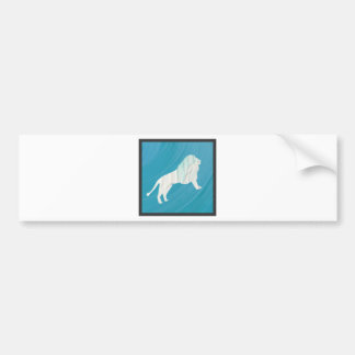 Lion's Majesty 1 [Framed\ Bumper Sticker
