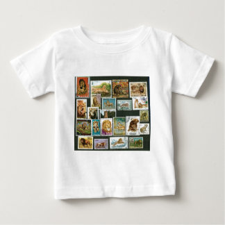 Lions on stamps baby T-Shirt