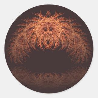 Lion's Reflection Round Sticker