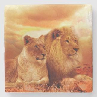Lions Stone Coaster