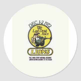 Lions The last race Classic Round Sticker