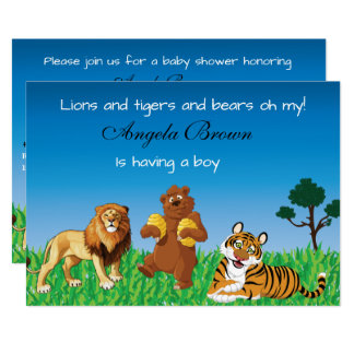 Lions, Tigers, Bears Oh My - Unisex Baby Shower Card