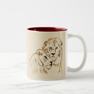 Lions Two-Tone Coffee Mug