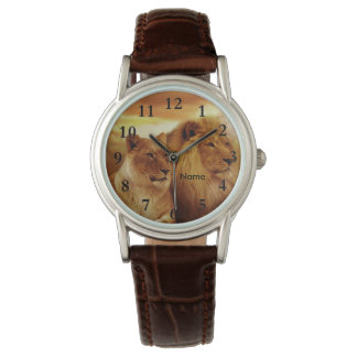 Lions Wildlife Wrist Watch