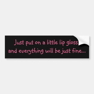 Lip Gloss Bumper Sticker