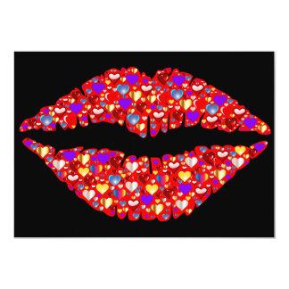 Lip heart card