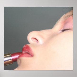 lip stick girl poster
