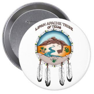 Lipan Apache Tribe of Texas 4 Inch Round Button