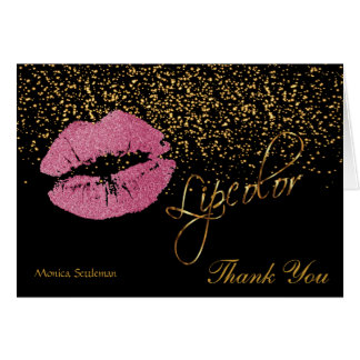 Lipcolor Pretty Pink Lips on Black Card