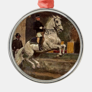 Lipizzaner Dressage: Croupade Metal Ornament