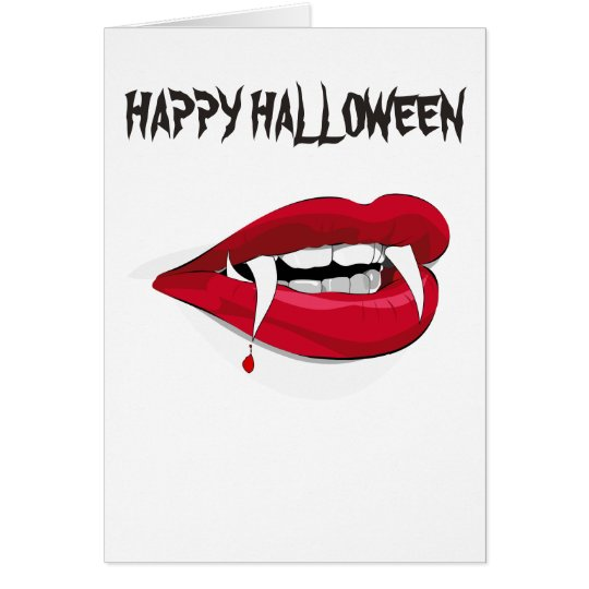 LIPS AND FANGS HAPPY HALLOWEEN CARD