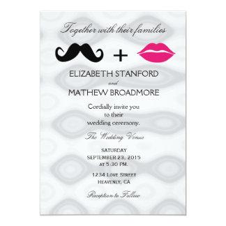 Lips and Moustache Wedding Invitation