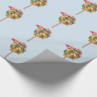 Lips and snail wrapping paper