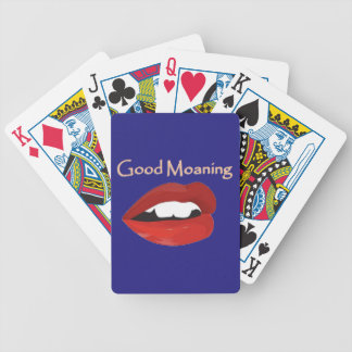 Lips Good Moaning To You Bicycle Playing Cards