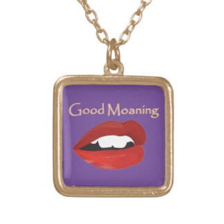 Lips Good Moaning To You Gold Plated Necklace