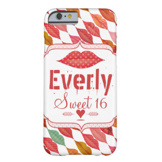 Lips Hipster Vintage Retro Sweet 16 Barely There iPhone 6 Case