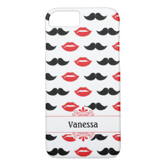 Lips & Mustaches iPhone 7 Case