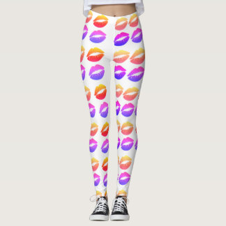 Lips print leggings