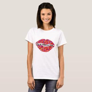 """Lips t-shirt with """"Speak what is true"""" slogan"""