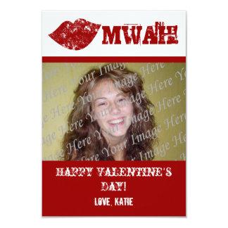 "Lips Valentine's Day Photo Card 3.5"" X 5"" Invitation Card"