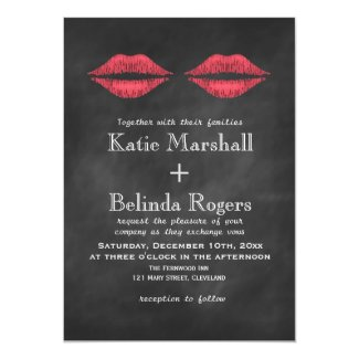 Lips Wedding Invitation
