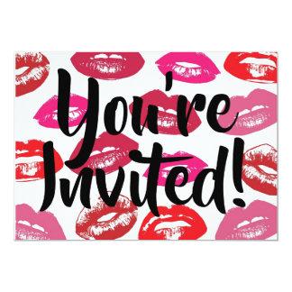 Lips You're invited Invitation