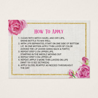 Lipsense Lip Product Vintage Floral How to Apply Business Card
