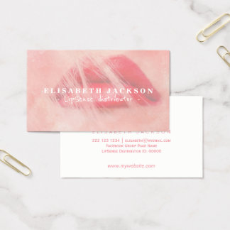 LipSense watercolor pink cool lipstick distributor Business Card
